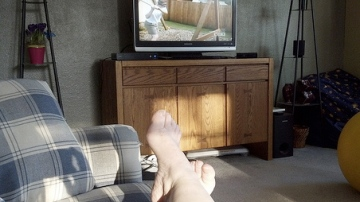 aaah . . AFV with my feet up!